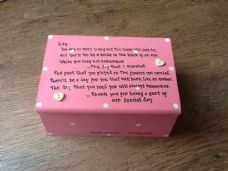 Shabby Personalised Chic Jewellery Box Bridesmaid Maid Of Honour Flower Girl Etc